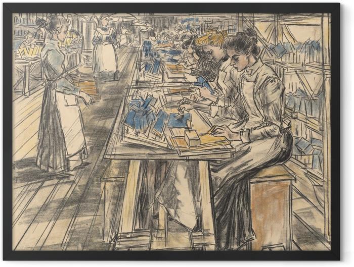 Plakat w ramie Jan Toorop - Fabryka świec w Gouda, 5 - Reproductions