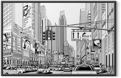 street in New York city Framed Poster