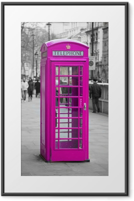 Telephone booth in London Framed Poster