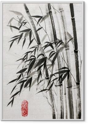 Poster en cadre Le bambou est un symbole de longévité et de prospérité
