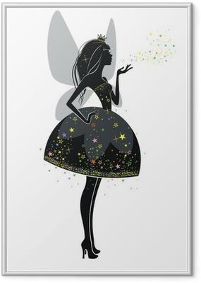 Фея в черном платье Framed Poster