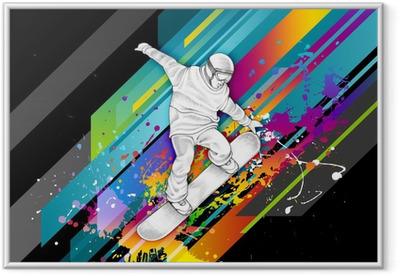 Snowboarder Framed Poster