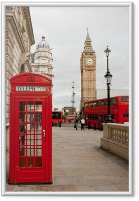 Póster com Moldura London, England
