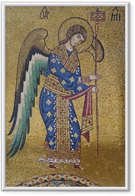 Poster in Cornice Palerno - Mosaico di San Michele Arcangelo a La Martorana