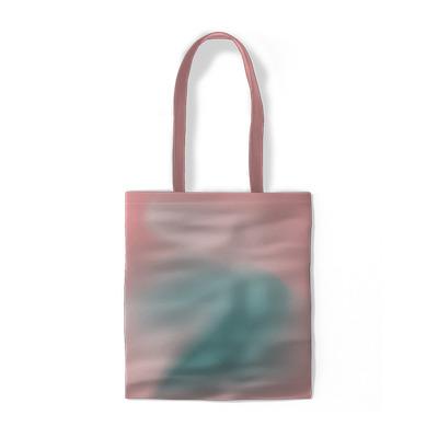 Rosa minimalistisk abstraktion Bomullspåsar