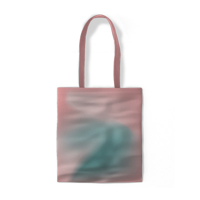Pink abstraction minimalistic Cotton bags