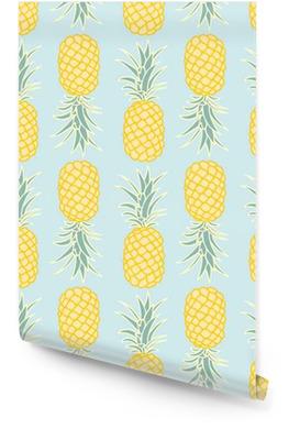Abstract seamless pineapple pattern.vector illustration Wallpaper roll