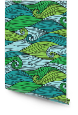 Vektori saumaton malli abstrakteja aaltoja Rullatapetti