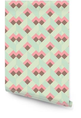 Wektor kolorowe abstrakcyjne retro geometryczny wzór Tapeta w rolce