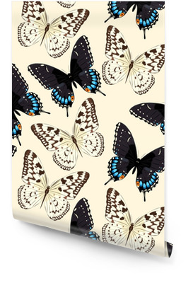 Blue butterflies seamless Wallpaper Roll