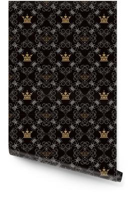 Königlicher Hintergrund, nahtloses Muster Tapetenrolle