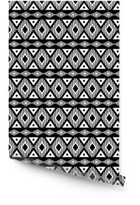 7bb06a13 Trendy sømløs svart og hvitt mønster. Moderne boho stil, etnisk, geometrisk.  Fasjonable