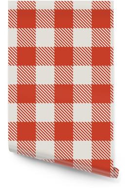 Nahtlose roten und weißen Tischdecke Vektor-Muster. Tapetenrolle