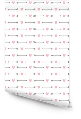 Seamless pattern with arrows and hearts Wallpaper Roll