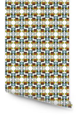 Geometrisk abstrakt sømløs mønster. lineært motiv baggrund dec Tapetrulle
