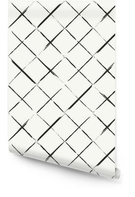 Moderne Hand grungy diagonal Fliesen Hintergrund gezeichnet - einfarbig Tapetenrolle
