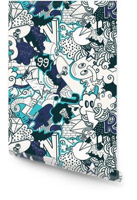Graffiti pattern coloré Rouleau de papier peint