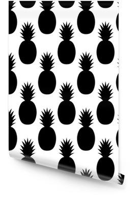 Modelo negro Piñas Rollo de papel pintado
