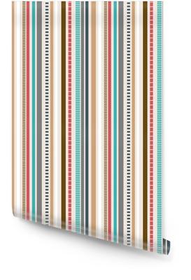 Strepen naadloos patroon; retro kleurenpatroon. Behangrol