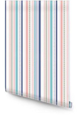 Stripes Seamless pattern; pastel colors pattern. Wallpaper Roll