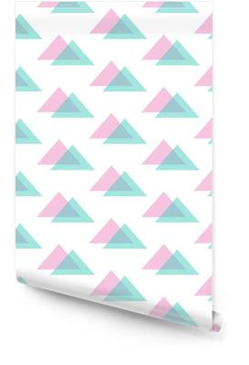 Nette moderne rosa und Minze grüne Dreieck nahtlose Muster Hintergrund. Tapetenrolle