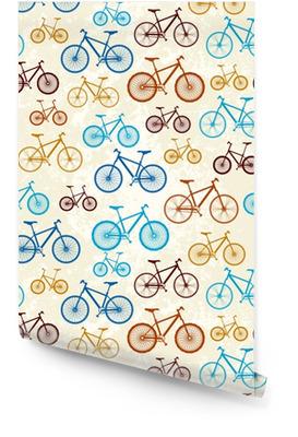 Muster von Fahrrädern Tapetenrolle