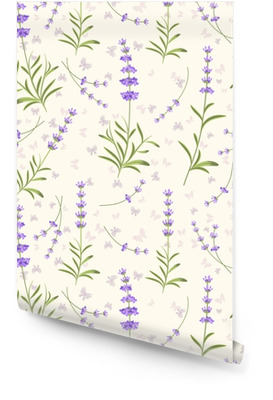 Lavender seamless vector pattern for fabric, paper Wallpaper Roll