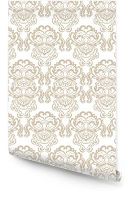 Vector bloemen damast barok ornament patroon element. elegante luxetextuur voor textiel, stoffen of behangachtergronden. beige kleur Behangrol
