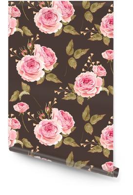 Roses anglaises sans soudure Rouleau de papier peint