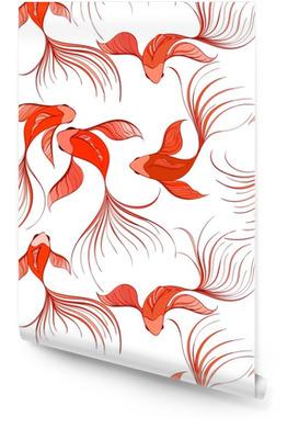 Fish seamless pattern Rollo de papel pintado