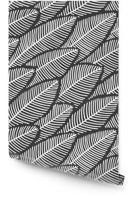 Elegante naadloze patroonbladeren Behangrol