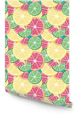 Citron vert citron pamplemousse Rouleau de papier peint