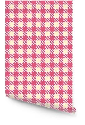 Motif de vichy sans couture crème rose Rouleau de papier peint