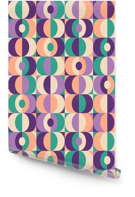Senza saldatura disegno geometrico epoca Rotolo di carta da parati