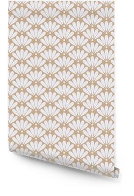 Senza saldatura beige modello orientale vettore floreale Rotolo di carta da parati