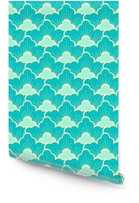 Stilisert furuskog himmelblå japansk stil sømløs Rulletapet