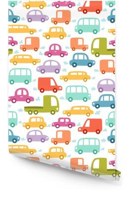Cartoon cars seamless pattern Wallpaper Roll