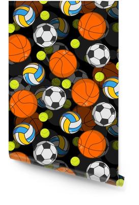 Sport ball 3d sømløs mønster. ball dekorasjon. basketball an Rulletapet