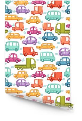 Modèle sans couture de voitures doodle Rouleau de papier peint