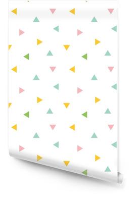 Søte fargerike geometriske, trekant sømløs mønster bakgrunn. Rulletapet