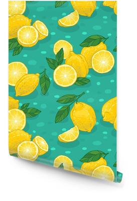Juicy lemons pattern Wallpaper roll