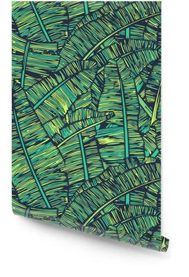 Banana Leafs Pattern Wallpaper Roll