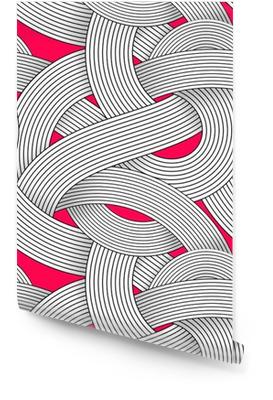 e4eed4dd Sømløs kunst kunst mønster. Stripet wave abstrakt bakgrunn. Optisk illusjon  av volum. Moire