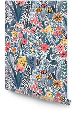 Tropical seamless floral pattern Wallpaper roll
