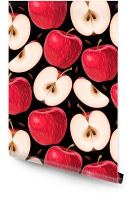 Mele rosse e fette di mela senza soluzione di continuità Rotolo di carta da parati