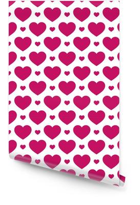 Bez szwu geometryczny wzór z ilustracji hearts.vector na Tapeta w rolce