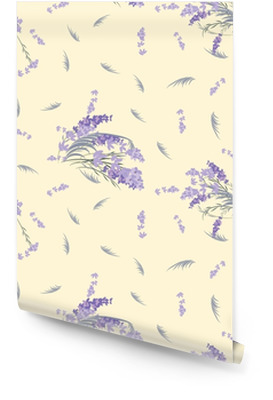 Blomster lavendel retro vintage baggrund Tapetrulle