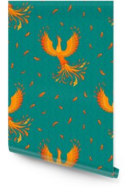 Seamless Pattern With Phoenix Wallpaper roll