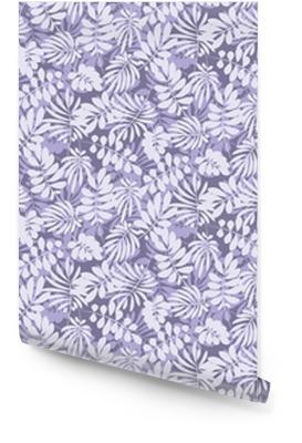 Tropische bladeren naadloze patroon in eenvoudige vlakke stijl. oppervlakte ontwerp vectorillustratie voor afdrukken, inpakpapier, stof, achtergrond. Behangrol