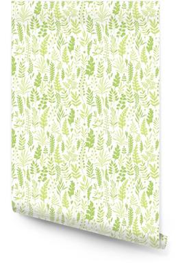 Patrón con hojas Rollo de papel pintado